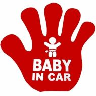 "Vision  ""Baby in car"" sticker, 15 cm x 15 cm"